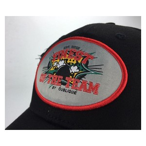 Custom made snapback cap badge